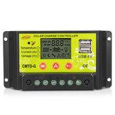 Intelligent 10A/20A 12V 24V LCD PWM Régulateur de contrôle de charge de panneau solaire