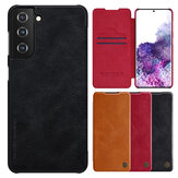 Nillkin for Samsung Galaxy S21+ Case Bumper Flip Shockproof with Card Slot PU Leather Full Cover Protective Case
