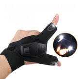 Universal Rescue Finger Gloves with LED Light Flashlight Outdoor Cycling Night Fishing Gloves