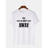 Mens Casual 100% Cotton Letter Print Crew Neck Short Sleeve T-Shirts