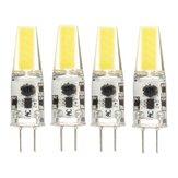 4 PCS Mini G4 2 W Branco Puro COB LED Lâmpada para a Luz do Candelabro Substituir Lâmpada de Halogéneo DC / AC12V