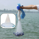 8ft Quick Throw Cast Net Monofilament Fishing Live Aas Net met Sinkers