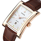 WWOOR 8017 Rectangle Dial Unique Design Men Wrist Watch