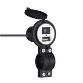 12V-24V 2.1A Chargeur USB à charge rapide et rapide Moto Coffre-fort universel avec interrupteur