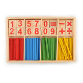 Wooden Number Mathematics Early Learning Counting Math Game Educational Kids