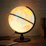 Globo do mundo Universal LED Rotating Swivel Mapa da Geografia do Atlas da Terra
