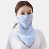Outdoor Riding Face Mask Summer Printing Neck Sunscreen Scarf Mask Breathable Quick-drying