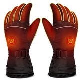 3-Modes Electric Heating Built-in Battery Gloves Control Winter Thermal Ski Motorcycle Gloves Waterproof Heated Gloves Cycling Climbing Gloves