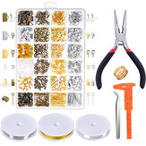 1488pcs DIY Necklace Jewelry Pendant Earrings Ring Making Set Handmade Craft
