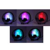Agate Pierre Slice Veilleuse Couleur Aléatoire Mineral Rock Geode Druzy Slice LED Lampe De Table De Bureau De Nuit Pour La Décoration De Noël