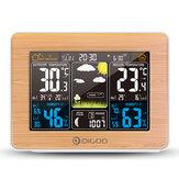 DIGOODG-EX002AhşapTahılRenkliEkran Hava İstasyonu HD Renkli Ekran Outdoor Kapalı Termometre Higrometre Sıcaklık Nem Hava Durumu Tahmini Ayevreleri Daily Alarm Saat Erteleme Fonksiyonlu