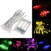 3M 30 LED batteriebetriebene Weihnachtshochzeitsfest Schnur feenhaftes Licht