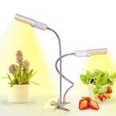 45W Vollspektrum 88 LED Pflanze wachsen leicht Dual Head Clip Schwanenhals Lampe für Indoor Sämling blühende Früchte