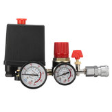 Compresor de aire Interruptor de presión Válvula de control Múltiple Regulador de alivio de alivio Calibrador con Quick Conector