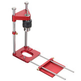 All Aluminum Alloy Adjustable Woodworking Drill Locator Pro Auto Line Drill Guide Puncher Mini Bench Drill Press Precise Positioning Tools Hole Drill