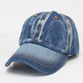 Mens Women Vintage Denim Baseball Cap Casual Outdoor Visor Snapback Caps