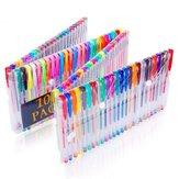 100 couleurs stylo gel aquarelle stylo surligneur Flash stylo métal pastel crochet ligne stylo pour fournitures scolaires