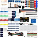 Geekcreit DIY Electronics Basic Starter Kit Breadboard Jumper Wires Resistors Buzzer for UNO R3 Mega2560
