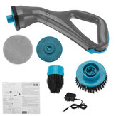 All in 1 Muscle Electrical Cleaning Brush Scrubber Cordless Bathroom Shower Tile+4 Heads