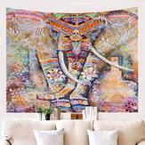 Mandala Arazzo Elefante Psichedelico Arazzo Animale Appeso A Parete Della Boemia Arazzo Da Parete Galassia per La Decorazione Domestica Hippie Coperta