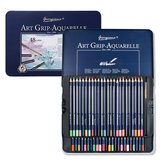 GIORGIONE 24/36/48/72 Color Water Soluble Colored Pencil Set Wooden Triangle Pen Body Thick Lead Artist Drawing Watercolor Paint Supplies Colored pencils