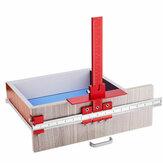 Hợp kim nhôm đỏ Số liệu / Inch Tủ Phần cứng Jig 4mm Hướng dẫn khoan Tủ Xử lý mẫu Jig