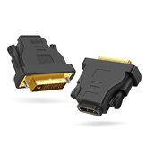 Adaptador DVI 24 + 1 para HDMI Macho para Fêmea