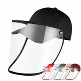 Female Male Protective Hat Cover Foldable Anti-Fog Prevent Droplets Baseball Caps Hat From Spreading Removable PVC Mask Protective Cap.