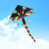 1,5 M 59-calowy Colorful Triangle Kite Rainbow Kite Outdoor Funny Sports Flying Kites For Children Kids