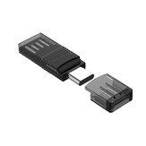 KINGAMZ Type-C Czytnik kart pamięci TF USB 2-w-1 Konwerter USB 2.0 OTG do telefonu komórkowego, komputera, laptopa