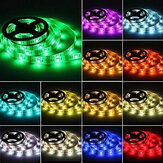 LED Işık Şeridi 50/100/150/200 cm RGB 5050SMD LED Şerit Işığı Batarya Kumandalı Su Geçirmez 3 Mod Renk Değişimi