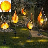 Solar Power LED Landscape Light Path Torch Flame Lighting Garden Percorso per piscine lampada