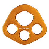 XINDA XD8609 Aluminum 30KN Climbing Rope Rigging Plate Split Rope Descender Plate 4-hole Force Plate Anchor Multipliers