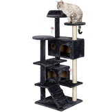 Cat Tree Tower Condo Furniture Scratch Post dla Kittens Pet Bed