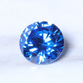 8mm 3.25ct Sea Blue Sapphire Round Faceted Cut Shape AAAAA VVS Loose Gemstone Decorations