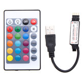 24 Keys USB LED Controller with Remote Control for DC5V 5050 RGB Strip Light