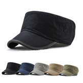 Dad Summer Adjustable Platte hoeden Outdoor Peaked Cap Heren