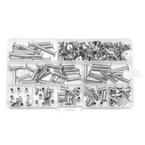 90 Sets M5 6-30mm Nickel Plating Phillips Chicago Binding Posts Stud Screws Rivet Button Bookbinding