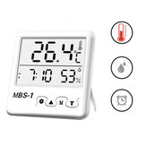 Digital Large Screen Weather Station Jam Dalam Ruangan Hygrometer Thermometer Clock