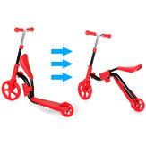 2 In 1 2 Wheels Kids Scooter Adjustable Seat Junior Walker Baby Balance Bike Toddler Bicycle for Balance Sports Training for  2-6 Years Old