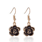 Retro Black Rose Flower Ear Drop