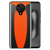 Bakeey for Xiaomi Poco F2 Pro Case Sports Car Design Carbon Fiber Leather Shockproof Protective Case Non-original
