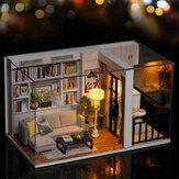 Cuteroom DIY Boneca Casa estilo de vida QT-005-B Mini coleção modelo brinquedos modelo montados à mão com tampa contra poeira