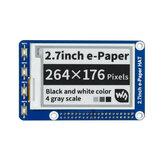Waveshare®2.7インチインクスクリーン264x176電子ペーパーディスプレイモジュール赤黒と白E-ペーパー
