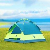 ZENPH 3-4 personnes tente automatique étanche PU 1000mm auvent parasol Camping en plein air de