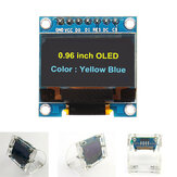 Geekcreit® 7Pin 0.96 İnç OLED Ekran + Şeffaf Kabuk Akrilik Kılıf 12864 SSD1306 SPI IIC Seri LCD Ekran Modülü