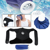 Ice Gel Confezione Hot Cold Therapy Wrap Shoulder Injuries Distorsioni Muscle Joint Pain Blue Black Cloth Fibre Support