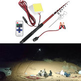 12V 2 * 96W Telescopic Fishing Lamp Car Rod Light LED Camping Lamp remoto Controller Lanterna de carro