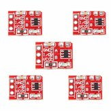5Pcs 2.5-5.5V TTP223 Capacitive Touch Switch Button Self Lock Module Geekcreit for Arduino - products that work with official Arduino boards