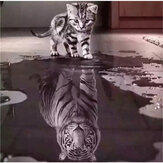 DIY Diamond Painting Cat Tiger Animal Hanging Pictures Handmade Wall Decorations Gifts Drawing for Kids Adult